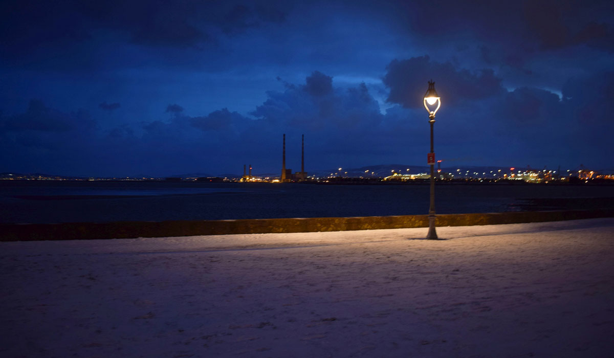 Dublin Snow storm March 2018 - Clontarf Pier