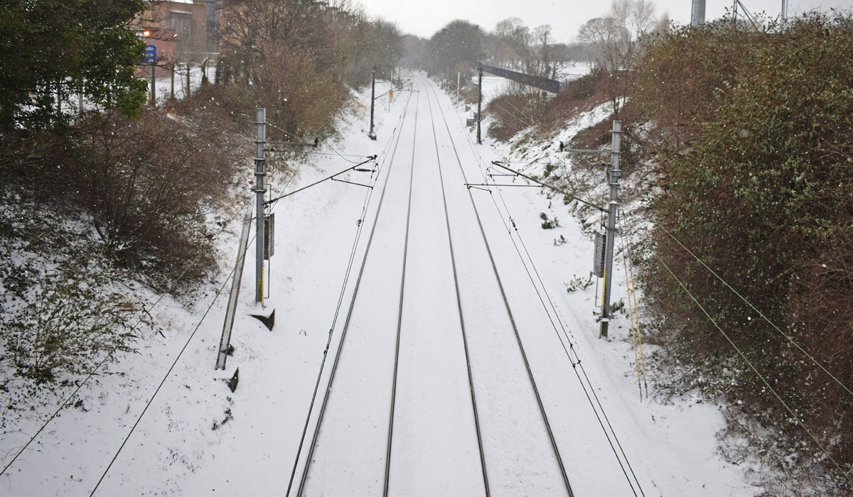 Dublin Snow storm March 2018 - Killester Dart Train tracks