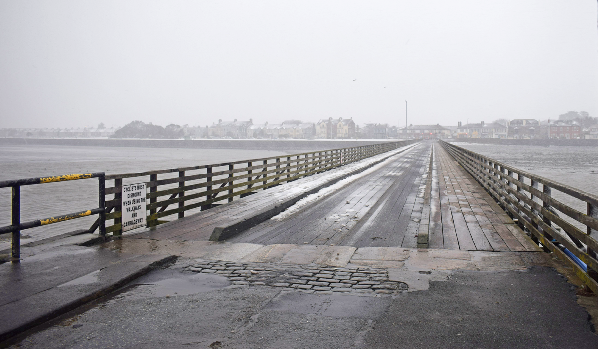 Dublin Snow storm March 2018 - Bull Island Bridge