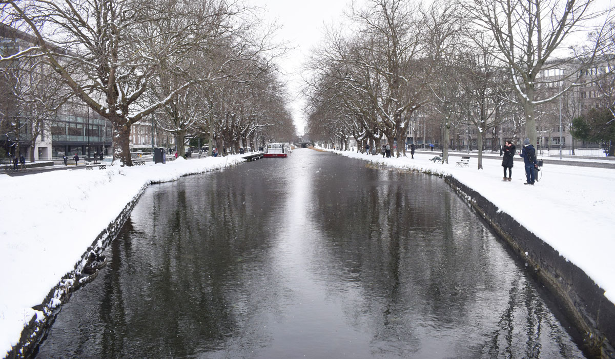 Dublin Snow storm March 2018 - Grand Canal