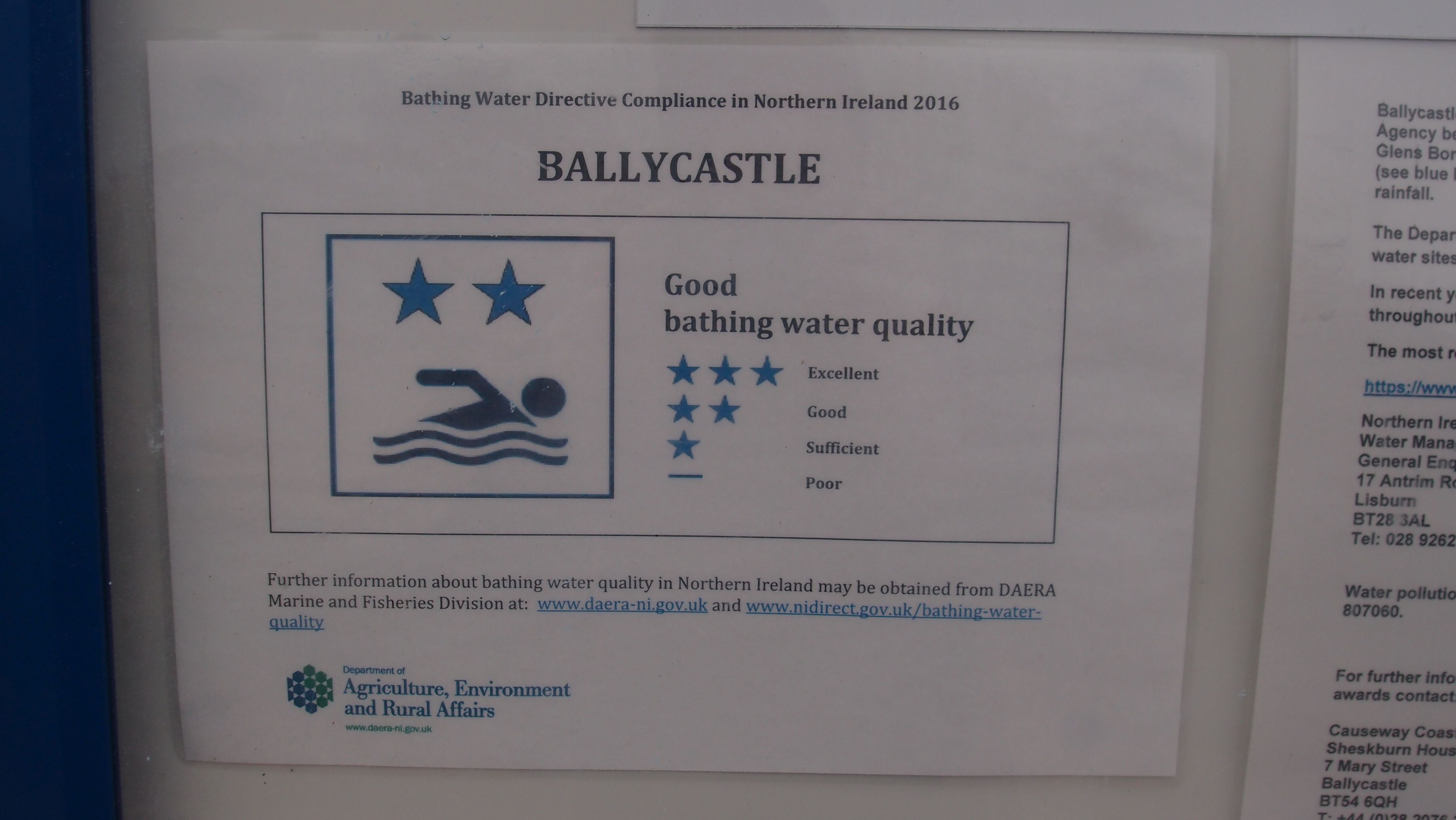 Ballycastle bathing quality