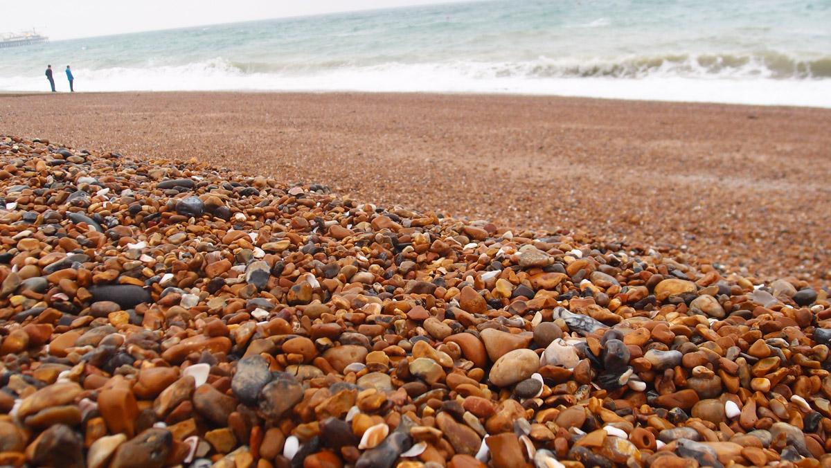 Brighton's stony shore
