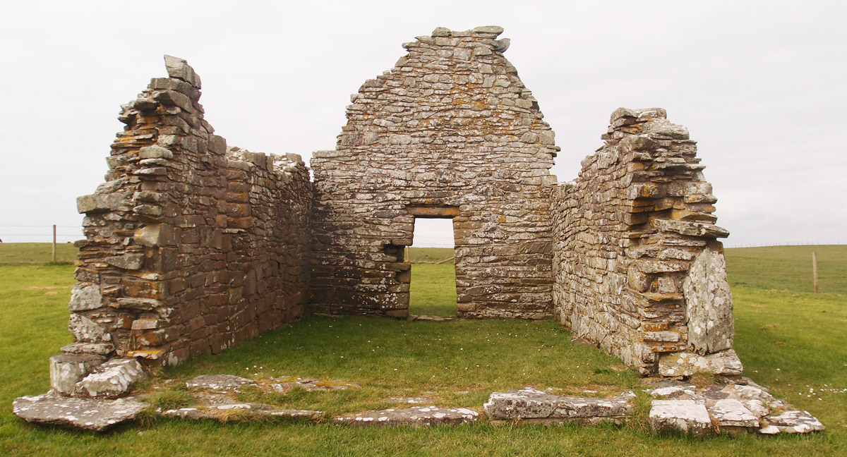 Church ruins, St Johns Point, County Down
