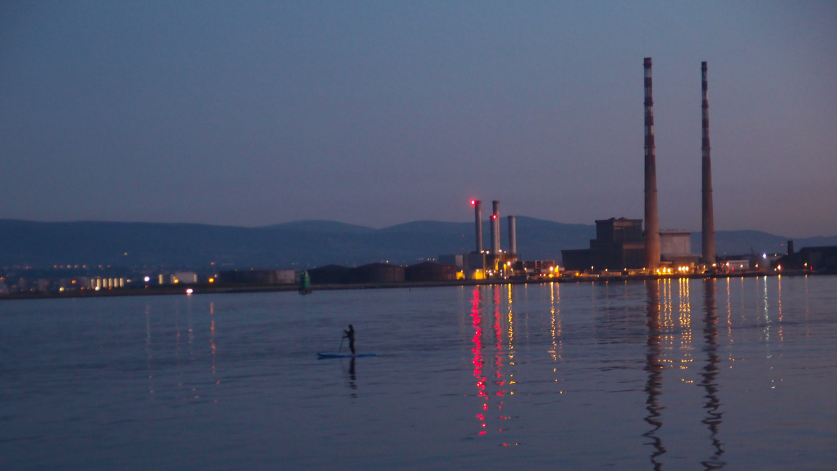 Nigh time paddling in Dublin Bay