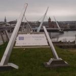 Derry City Peace Bridge Sign