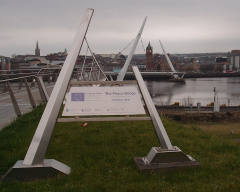 Derry City Peace Bridge Sign
