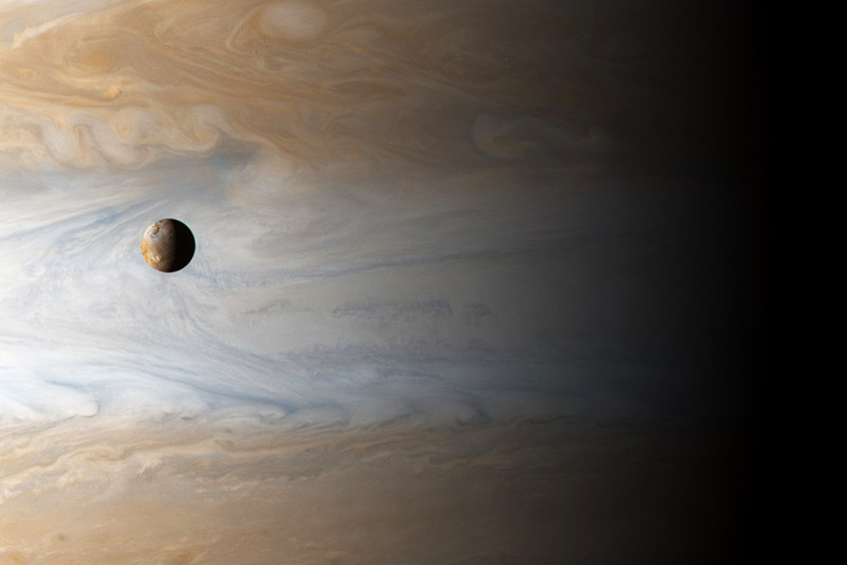 Moon Io and Jupiter